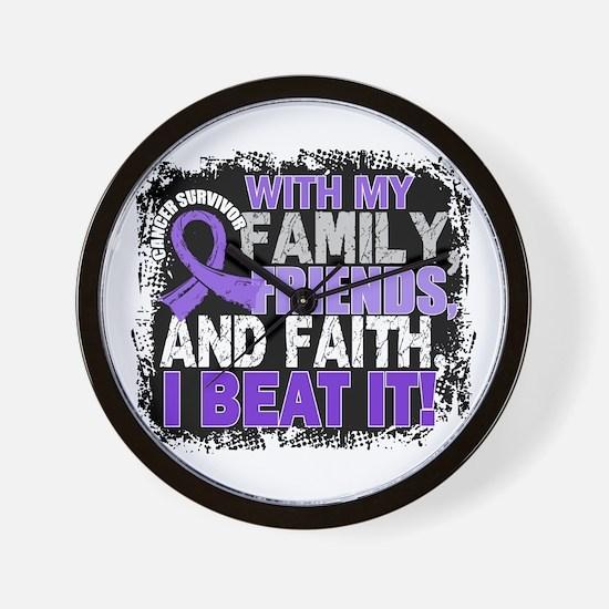 Hodgkin's Disease Survivor FamilyFriend Wall Clock