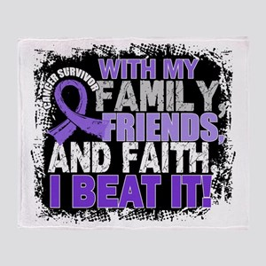 Hodgkin's Disease Survivor FamilyFri Throw Blanket