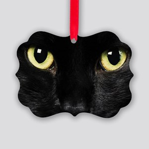 Black Cat Picture Ornament