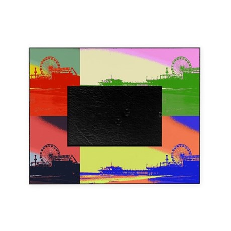 Santa Monica Pier Pop Art Picture Frame on Cafepress
