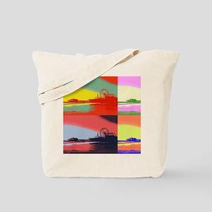 Santa Monica Pier Pop Art Tote Bag