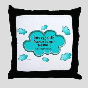 Clobber Ovarian Cancer Throw Pillow