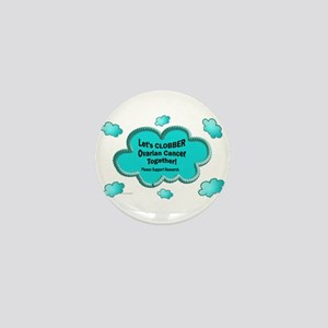 Clobber Ovarian Cancer Mini Button