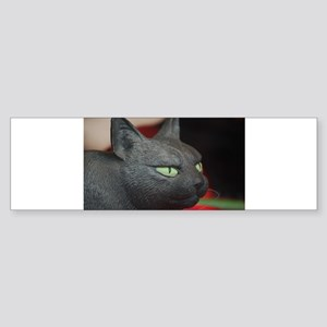 Imposing model cat Bumper Sticker