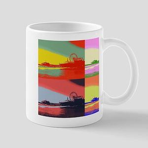 Santa Monica Pier Pop Art Mugs