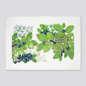 Blueberries from Nova Scotia 5'x7'Area Rug