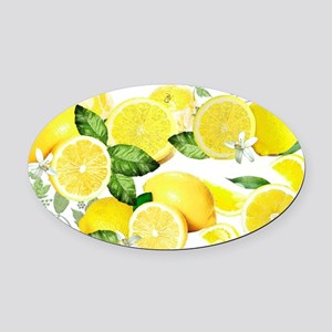 Acid Lemon from Calabria Oval Car Magnet