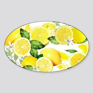 Acid Lemon from Calabria Sticker (Oval)