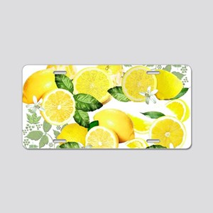 Acid Lemon from Calabria Aluminum License Plate