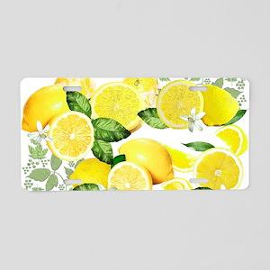 Acid Lemon from Calabria Aluminum License Plate