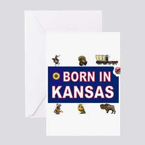 Kansas jayhawks greeting cards cafepress kansas born greeting cards m4hsunfo