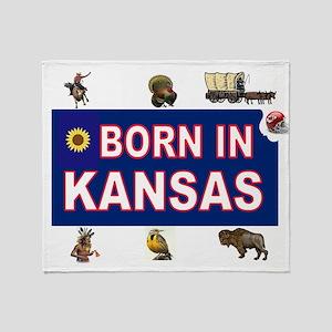 KANSAS BORN Throw Blanket