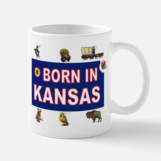 KANSAS BORN Mugs