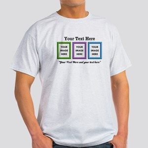 CUSTOM 3 Image Frame Green Blue Purple T-Shirt
