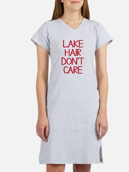 Ocean Lake Coast Boat Hair Don' Women's Nightshirt