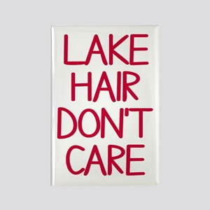 Ocean Lake Coast Boat Hair Don't Rectangle Magnet