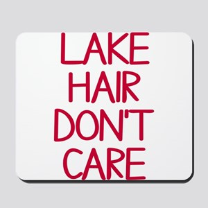Ocean Lake Coast Boat Hair Don't Care Mousepad