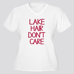 Ocean Lake Coast Women's Plus Size V-Neck T-Shirt
