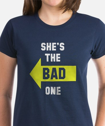She's the good one bad one Women's Dark T-Shirt