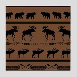Deep Tan Cabin Blanket Tile Coaster
