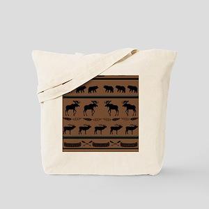 Deep Tan Cabin Blanket Tote Bag