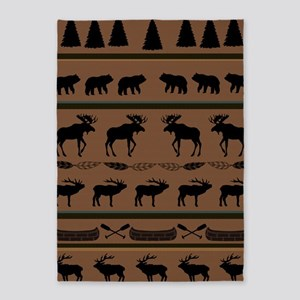 Deep Tan Cabin Blanket 5'x7'Area Rug