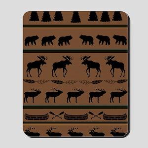 Deep Tan Cabin Blanket Mousepad