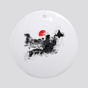 Abstract Kyoto Round Ornament