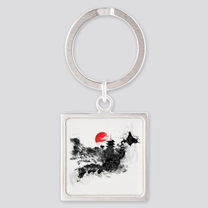 Abstract Kyoto Square Keychain