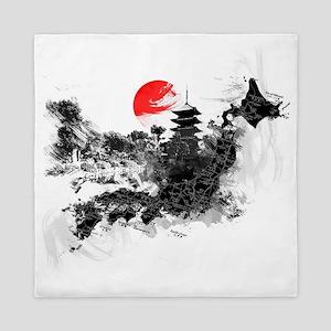 Abstract Kyoto Queen Duvet