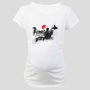 Abstract Kyoto Maternity T-Shirt