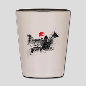 Abstract Kyoto Shot Glass