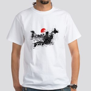 Abstract Kyoto White T-Shirt