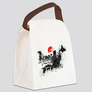 Abstract Kyoto Canvas Lunch Bag