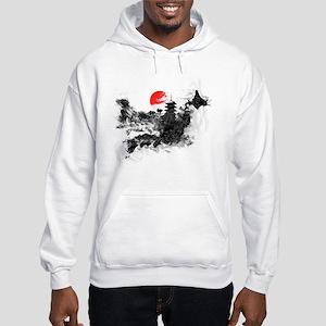 Abstract Kyoto Hooded Sweatshirt