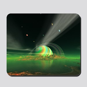 Moon View on Planet Newerades Mousepad