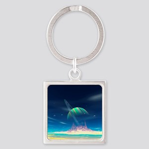 Newerades Shallow Waters Square Keychain