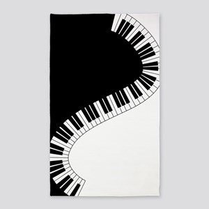 Piano Keyboard Area Rug