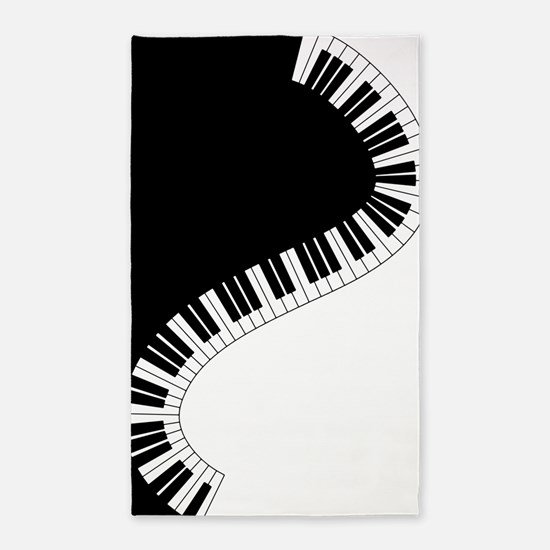 Piano Keyboard Area Rug