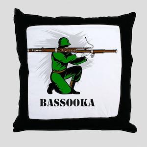 Bassooka Throw Pillow