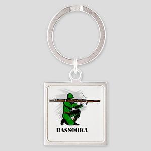 Bassooka Square Keychain