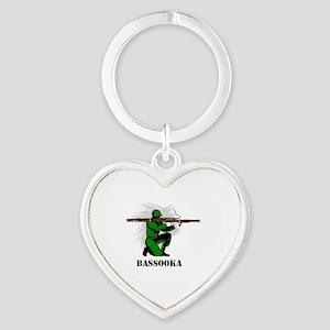 Bassooka Heart Keychain