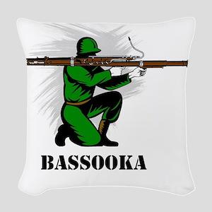 Bassooka Woven Throw Pillow