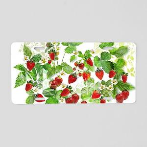 Ripe Strawberries from Prov Aluminum License Plate