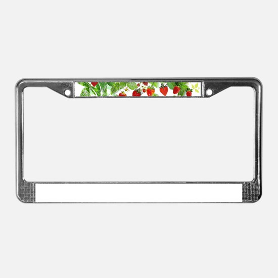 Ripe Strawberries from Provenc License Plate Frame