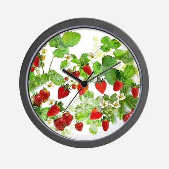 Ripe Strawberries from Provence Wall Clock