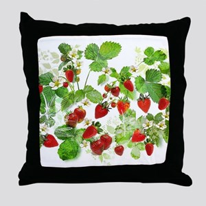 Ripe Strawberries from Provence Throw Pillow