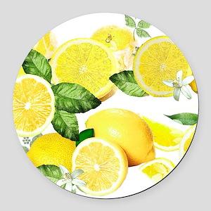 Acid Lemon from Calabria Round Car Magnet