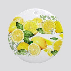 Acid Lemon from Calabria Ornament (Round)