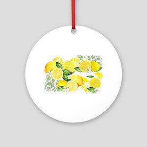 Acid Lemon from Calabria Ornament (Round)
